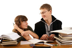 students in a library Stock Photography