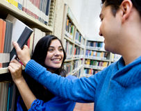 Students at the library Stock Photography