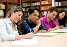 Students at the library Stock Images