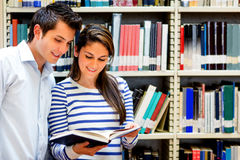 Students at the library Royalty Free Stock Image