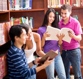 Students at the library Royalty Free Stock Images