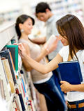 Students at the library Stock Image