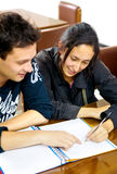Students in a library Royalty Free Stock Photography