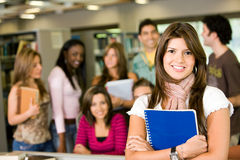 Students in a library Royalty Free Stock Photos