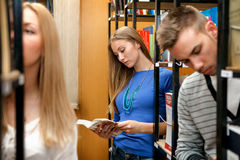 Students in library Royalty Free Stock Images