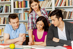 Students in library. Royalty Free Stock Photography