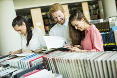 Students in the library Royalty Free Stock Photography