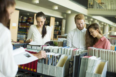 Students in the library Royalty Free Stock Image