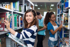 Students in library Stock Photos