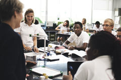 Students lifestyle learning in physic classroom Stock Photos