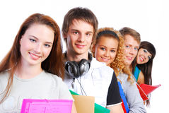 Students Lined Up Royalty Free Stock Photos