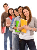 Students lined up Stock Photos