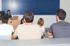 Students listening Stock Image