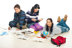 Students make their homework Royalty Free Stock Photo