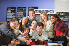 Students Making Faces for Camera Royalty Free Stock Image