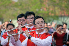 Students marching band Royalty Free Stock Photo