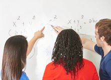 Students in math Stock Images