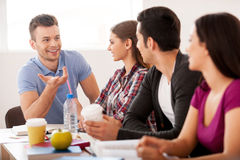 Students meeting. Stock Image