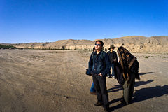Students  in Mogao grottoes Stock Photo
