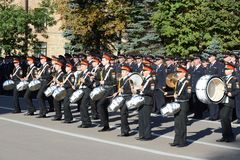 The students of the Moscow cadet corps of the police. Royalty Free Stock Photography