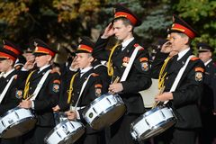 The students of the Moscow cadet corps of the police. Stock Photography