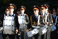 The students of the Moscow cadet corps of the police. Stock Photo