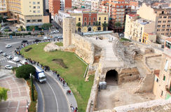 Students near Roman Circus, Tarragona, Spain Royalty Free Stock Image