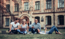 Students near university Stock Images