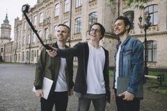 Students near university royalty free stock image