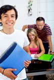 Students with notebooks Stock Image