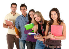 Students with notebooks Stock Photos