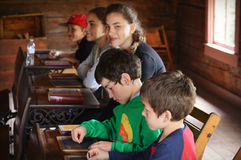Students One Room Schoolhouse Royalty Free Stock Photo