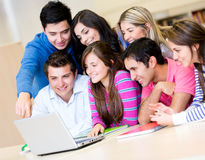 Students online Stock Photo
