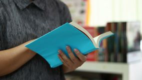 Students open reading books. stock footage