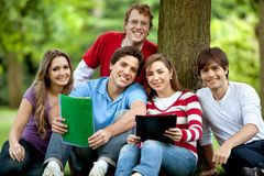 Students oudoors Royalty Free Stock Photo