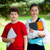 Students outdoor Stock Image