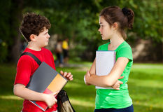 Students outdoor Royalty Free Stock Photo