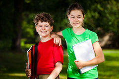 Students outdoor Royalty Free Stock Images