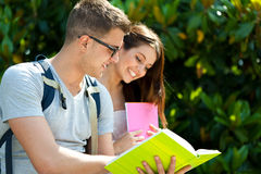Students outdoor Royalty Free Stock Photography