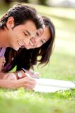 Students outdoors Stock Photography