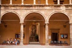 Students outside Bologna University Stock Photography