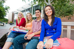 Students Outside of School stock image