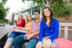 Students Outside of School Stock Photo