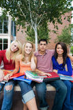 Students Outside of School Royalty Free Stock Photos