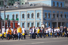 Students parade in Moscow Stock Image