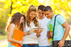 Students at park Royalty Free Stock Image