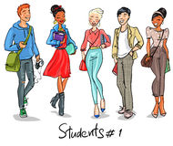 Students - part 1 Stock Image
