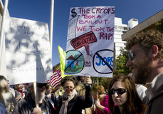 Students Participating In Worldwide Occupy Event Stock Image