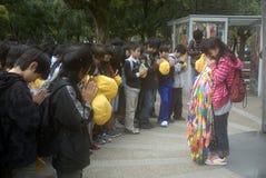 Students at the Peace Memorial, Hiroshima, Japan Royalty Free Stock Image