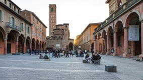 Students on Piazza Giuseppe Verdi in evening Stock Photos